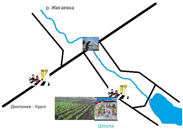 Схема маршрута школьного